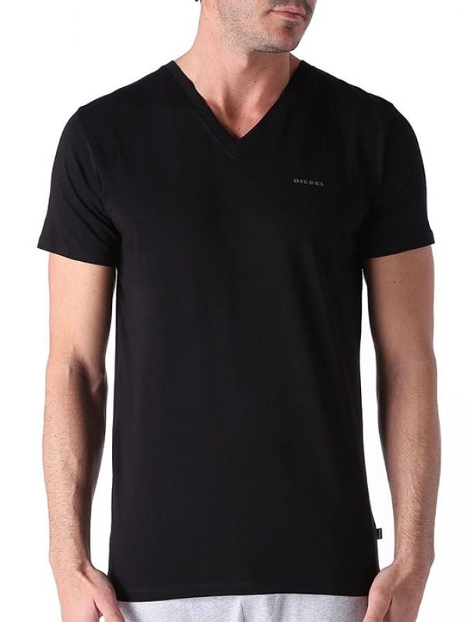 Diesel OQAHE Ανδρικά T-Shirt - Ελαστικό Βαμβάκι - Σχήμα V - 2 Τεμάχια bd9c919706d