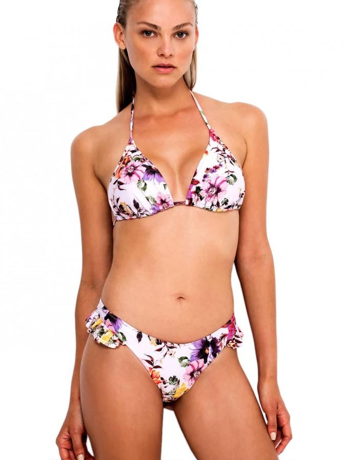 Set Μαγιό Blu4u Romantic Floral - Τρίγωνο με Ενίσχυση + Brazilian ... e3571719c71
