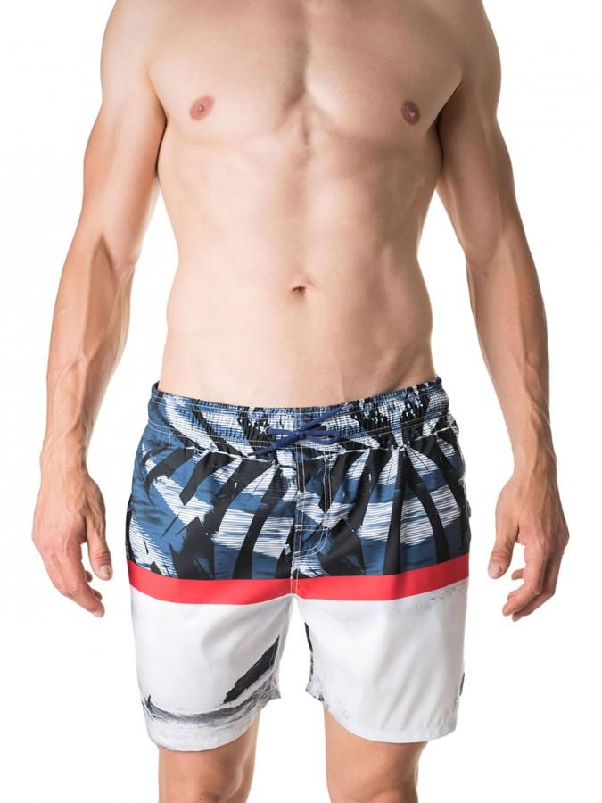 d4129114966 Ανδρικό Μαγιό Βερμούδα Johnny Brasco - Σχέδιο Surfing - Καλοκαίρι 2018