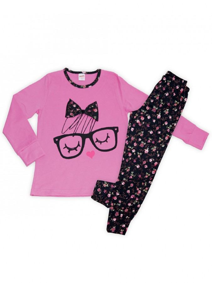 4fea7ffe4288 Πυτζάμα Παιδική Minerva Glasses - 100% Βαμβάκι Interlock - All Over ...
