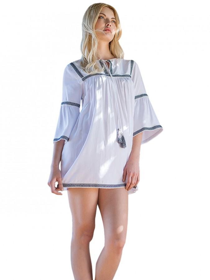 dadf2676e24a Φόρεμα - Καφτάνι Harmony Boho Style - Αέρινο Ύφασμα   Φούντες ...
