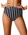 Μαγιό Blu4u Bikini Ψηλοκάβαλο Navy Stripe - Hot Brazil - Χωρίς Ραφές - Καλοκαίρι 2018