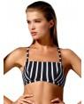 Μαγιό Blu4u Τοπ Navy Stripe - Αόρατη Ενίσχυση - Αθλητική Πλάτη