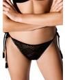 Μαγιό BLU4U Slip Wish - Bikini Κανονικό - Δένει στο Πλάι - Πλεχτή Δαντέλα