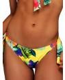 Μαγιό BLU4U Yellow Hibiscus - Bikini Κανονικό Κοφτό - Δένει στο Πλάι - Καλοκαίρι 2019