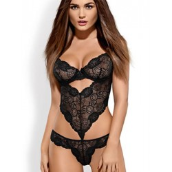 Obsessive ALLURIA Teddy - Κορμάκι -  Floral Δαντέλα - String - SS18