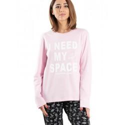 Γυναικεία Πυτζάμα APPLE - 100% Βαμβακερή - All Over Σχέδιο - Χειμώνας 2019/20
