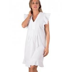 Φόρεμα Καφτάνι Harmony - 100% Βαμβακερό - Βολάν Σχέδιο - Καλοκαίρι 2019