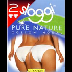 Sloggi Pure Nature Tanga Slip - Πακέτο με 2