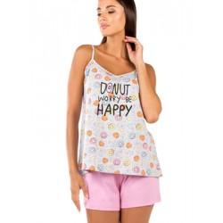 Γυναικεία Πυτζάμα MINERVA Donuts - 100% Βαμβακερή - Καλοκαίρι 2020