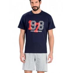 Minerva Αντρική Πυτζάμα 1978 - 100% Βαμβάκι -Sports Style - Καλοκαίρι 2018