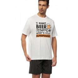 Αντρική Πυτζάμα MINERVA Beer - 100% Βαμβακερή - Καλοκαίρι 2020