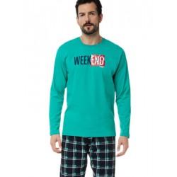 Ανδρική Πυτζάμα MINERVA Weekend - 100% Βαμβάκι Interlock - Καρό Παντελόνι - Χειμώνας 2020/21