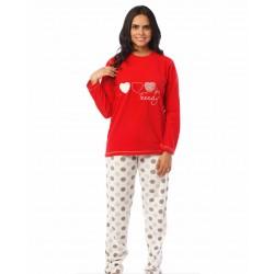 Πυτζάμα - Homewear  MYSTICO -  Πουά Παντελόνι-Φόρμα - Πολύ ζεστό και απαλό Fleece