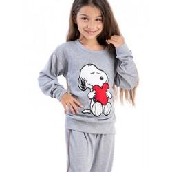 Παιδική Πυτζάμα RACHEL SNOOPY - 100% Βαμβακερή - Χειμώνας 2021/22
