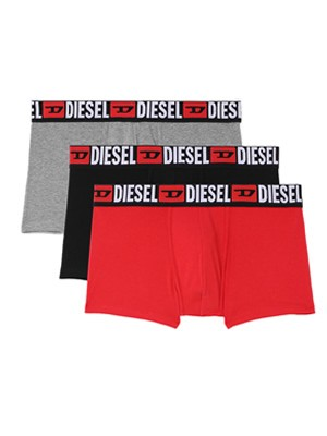 DIESEL Damien Boxer - Ελαστικό Βαμβάκι - Denim Division Logo - Πακέτο με 3 - Καλοκαίρι 2021