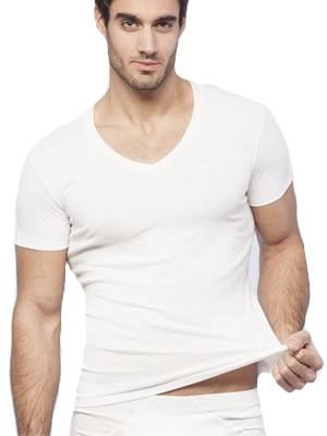 Minerva MicroCotton Αντρική Φανέλα T-Shirt Comfort Σχήμα V - Συσκευασία με 2