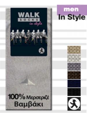 Walk Socks In Style 114 Αντρική 100% Βαμβακερή Κάλτσα με Σχέδια