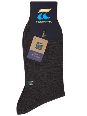 Πουρνάρα Art 158 - Μάλλινη Μονόχρωμη Κάλτσα