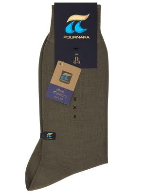 Πουρνάρα Art 167 - Μάλλινη Μονόχρωμη Κάλτσα με Σχέδιο