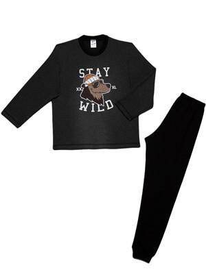 Παιδική Πυτζάμα MINERVA STAY WILD - Φούτερ Επένδυση - 100% Aγνό Βαμβάκι - Χειμώνας 2021/22
