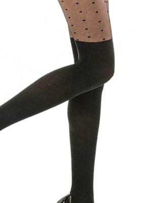 Καλσόν Meri By Mura PARIGINA POIS  50den - Σχέδιο Καλτσοδέτας & Dots Πουά Σχέδιο