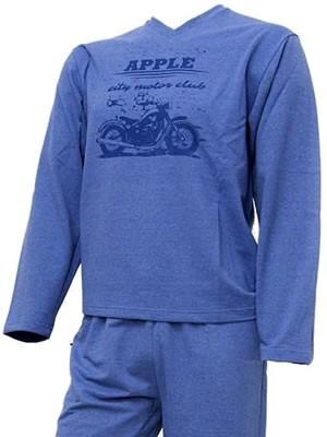 Ανδρική Πυτζάμα-Φόρμα Apple - Σχέδιο Μεταξοτυπίας -Βαμβακερή με Γεμάτη Πλέξη - Eπένδυση Lacoste