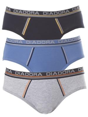 Diadora Slip - Βαμβακερό - Φαρδύ Λάστιχο - Logo Diadora - 3 τεμάχια