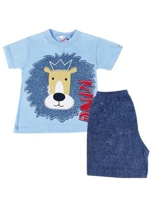 Βρεφική Πυτζάμα Minerva Lion King για αγόρι - 100% Βαμβάκι