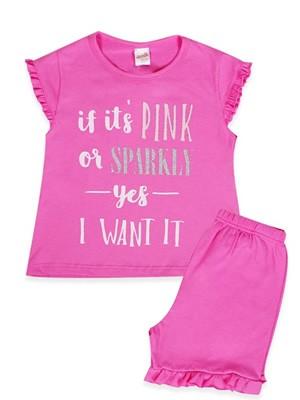 Παιδική - Εφηβική Πυτζάμα Minerva Pink Sparkle - 100% Αγνό Βαμβάκι