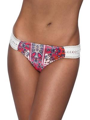 Μαγιό Bluepoint Brazilian Bikini India Summer - Λαμπερό Βελούδο - Πλεχτό Κέντημα