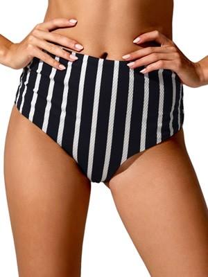 Μαγιό Blu4u Bikini Ψηλοκάβαλο Navy Stripe - Hot Brazil - Χωρίς Ραφές