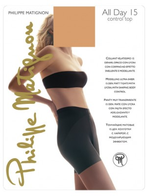 Καλσόν PHILIPE MATIGNON All Day 15 Control Top - Lastex Lycra -Για πέδιλο