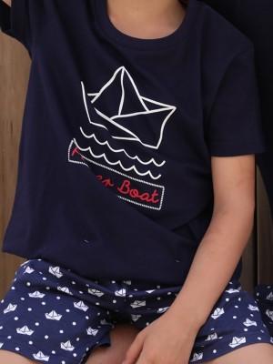 Παιδική Πυτζάμα ADMAS Boat για αγόρι - 100% Βαμβακερή - Καλοκαίρι 2020