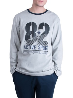 Ανδρική Πυτζάμα Homewear Apple - 100% Βαμβακερή - Sport Style