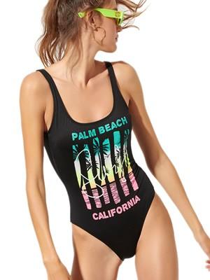 Μαγιό BLU4U Ολόσωμο Palm Beach - Αόρατη Ενίσχυση - Καλοκαίρι 2020