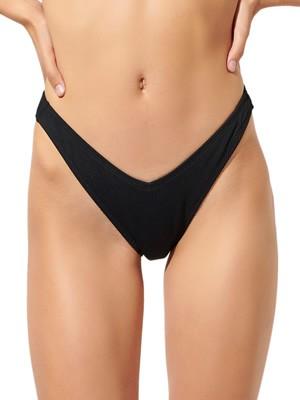 Μαγιό BLU4U Buttoned Brazilian Bikini - V Shape - Rib Ύφασμα - Καλοκαίρι 2020