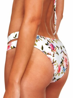 Μαγιό BLU4U Rose Buds Brazilian Bikini - Λωρίδες Ανοίγματα - Καλοκαίρι 2019