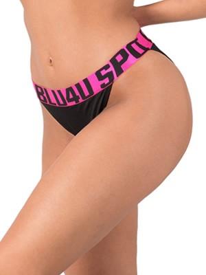 Μαγιό BLU4U Bikini Κανονικό Sports - Φαρδύ Λάστιχο & Logo - Καλοκαίρι 2019