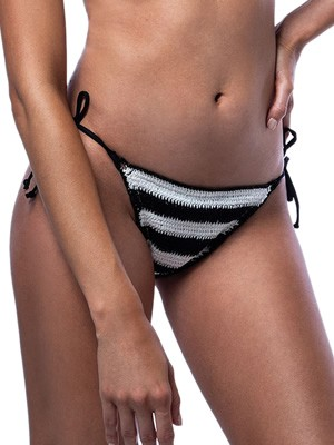 Μαγιό BLUEPOINT Navy Remixed Brazilian Bikini Ψηλό - Πλεχτό Lurex