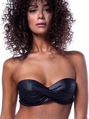 Μαγιό BLUEPOINT Strapless Leather Touch - Μεγάλο Στήθος - Ενίσχυση & Μπανέλα - Καλοκαίρι 2020