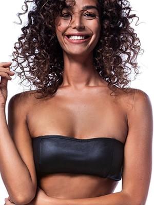 Μαγιό BLUEPOINT Strapless Leather Touch - Αόρατη Ενίσχυση - Καλοκαίρι 2020