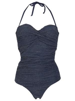 Μαγιό Bluepoint Total Chic Ολόσωμο Strapless για Μεγάλο Στήθος - Χρυσή Πλέξη & Ήπια Σύσφιξη