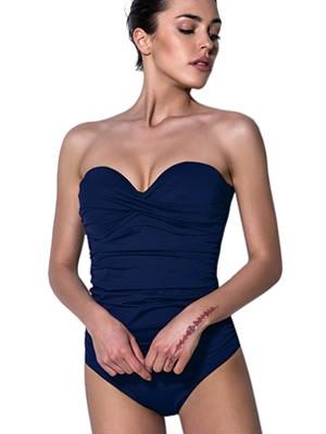 Μαγιό BLUEPOINT Ολόσωμο Strapless για Μεγάλο Στήθος - Ήπια Σύσφιξη - Καλοκαίρι 2019