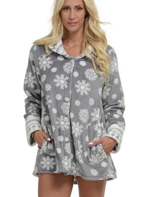 Ρόμπα Πολυτελείας Bonne Nuit – Γεμάτο Fleece – All Over Σχέδιο & Φιόγκος Πίσω – Hot Pick 18-19