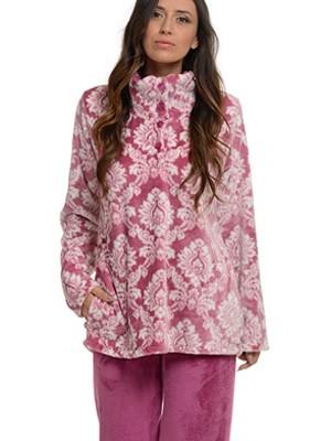 Πυτζάμα Πολυτελείας Bonne Nuit – Ζεστό Fleece – Λαχούρ Ethnic Σχέδιο