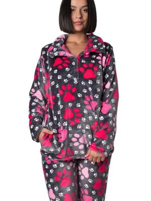 Πυτζάμα Πολυτελείας Bonne Nuit – Ζεστό Fleece – All Over Σχέδιο - Hot Pick 18/19