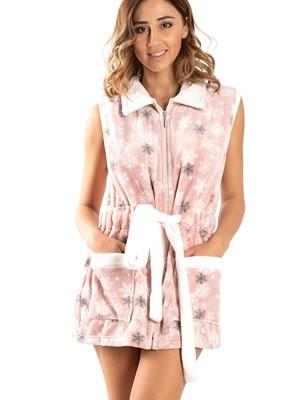 Γυναικεία Ρόμπα BONNE NUIT - Ζεστό & Απαλό Fleece - Snow - Smart Choice FW20/21