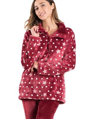 Πυτζάμα Πολυτελείας BONNE NUIT - Ζεστό  Fleece - All Over Σχέδιο - Χειμώνας 2019/20