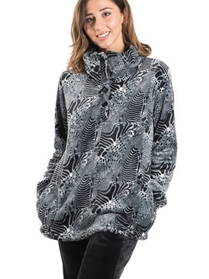 BONNE NUIT Πυτζάμα Πολυτελείας - Ζεστό  Fleece - Animal Print - Stay Home 2020